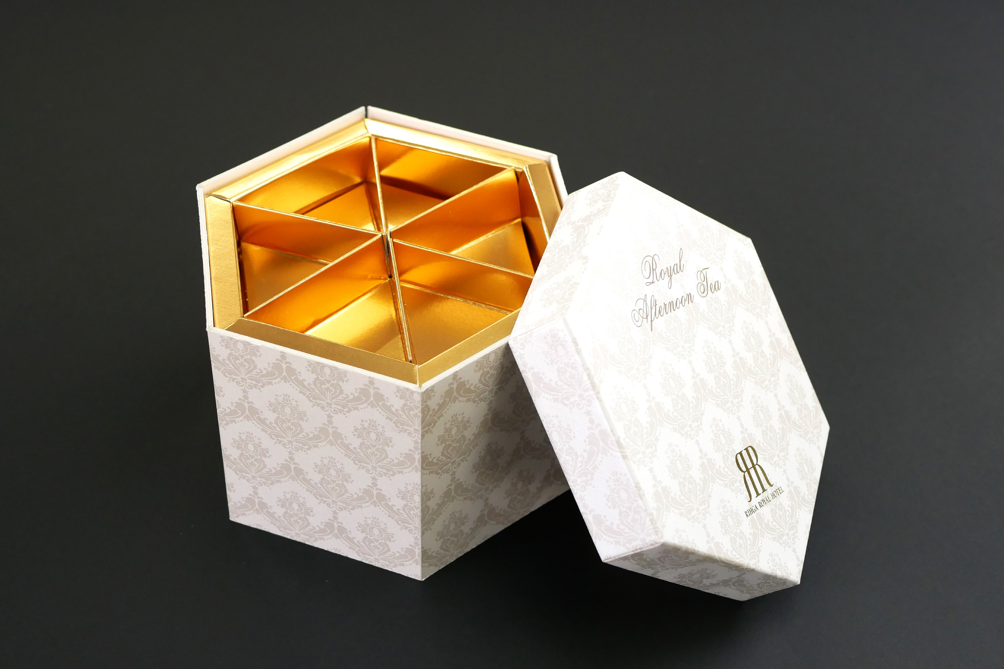 リーガロイヤルホテル様 ロイヤルアフタヌーンティボックスのパッケージ画像