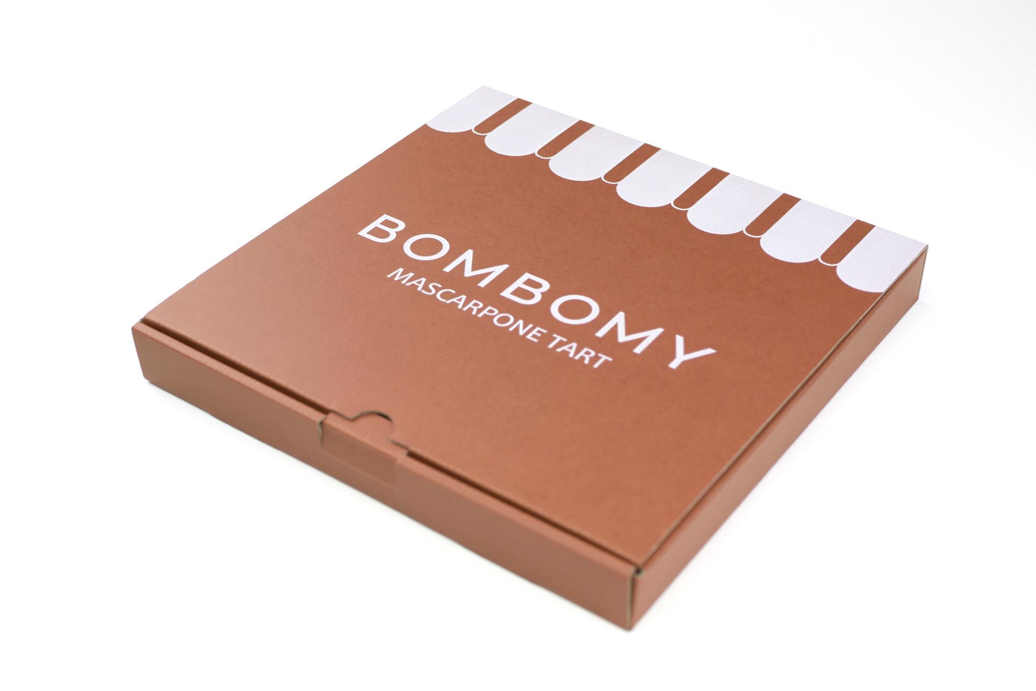 BOMBOMY チーズタルト 通販用パッケージの写真