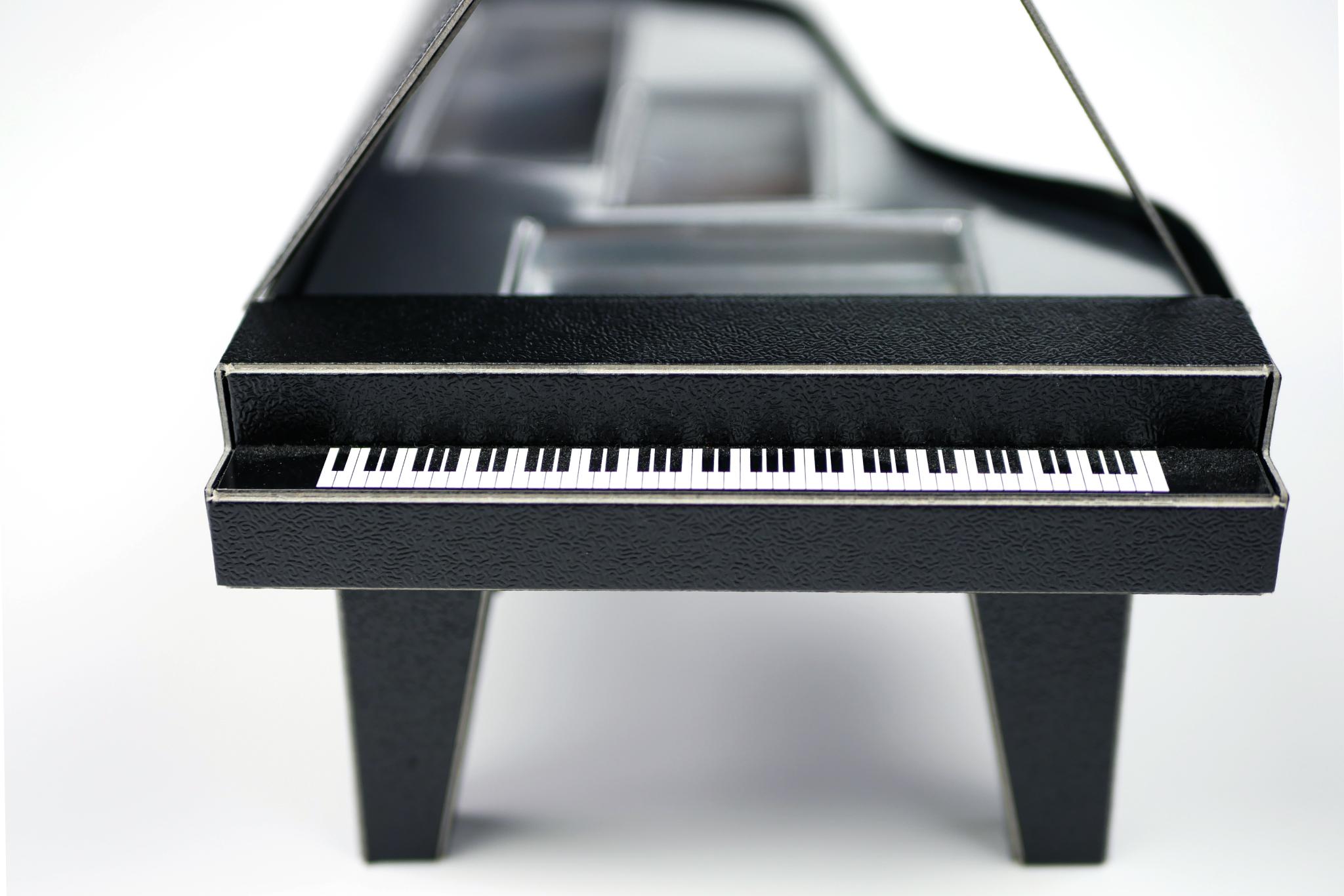 オリジナルパッケージ|バレンタイン|貼り箱|変形|ピアノ型
